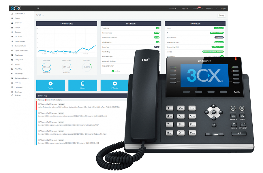 3CX hosted PBX